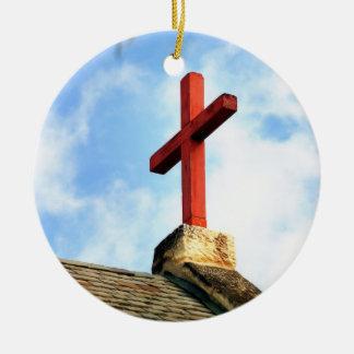 十字教会屋根 セラミックオーナメント