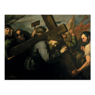 十字1635年を運んでいるキリスト ポストカード