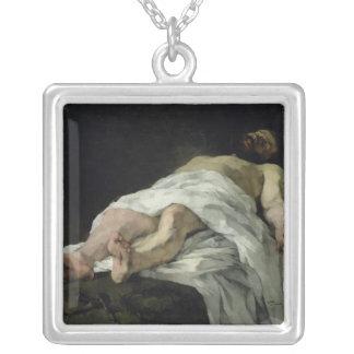 十字1874年から取られるキリスト シルバープレートネックレス