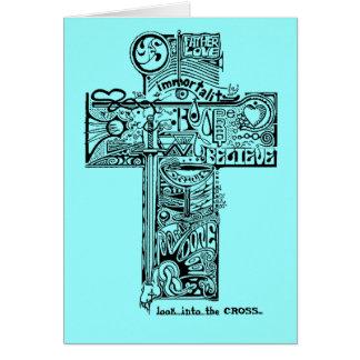 十字 グリーティングカード