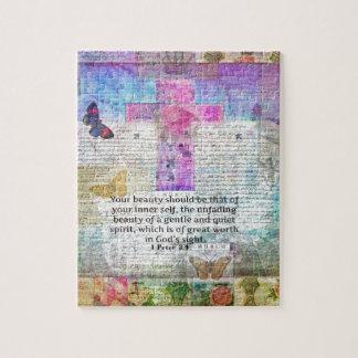 十字、聖なる書物、経典の芸術、基づく聖書の詩の芸術の信頼 ジグソーパズル