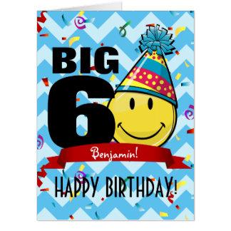 十年の印の巨大な誕生日 カード
