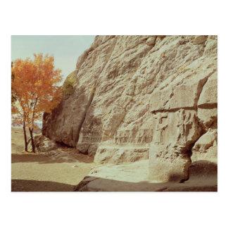 千人の神を描写するレリーフ、浮き彫りの詳細 ポストカード