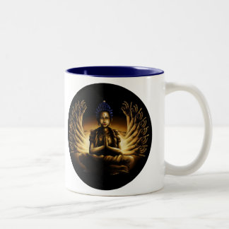 千本の腕仏-コーヒー・マグ ツートーンマグカップ