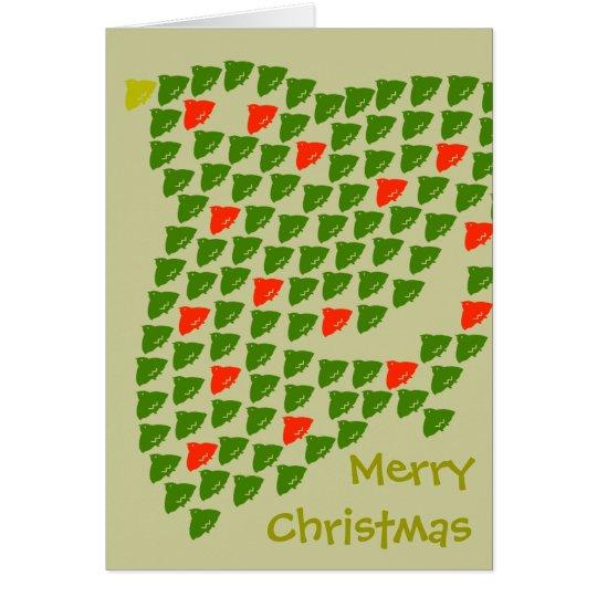 千鳥の群れでメリークリスマス カード