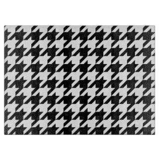 千鳥格子のでクラシックな編むパターン カッティングボード
