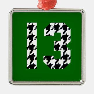 千鳥格子ので幸運な第13 メタルオーナメント