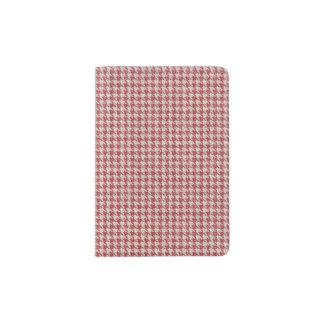 千鳥格子ので赤いパターン パスポートカバー