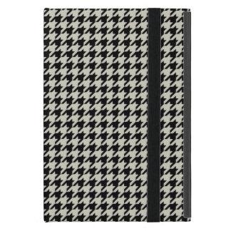 千鳥格子のなクラシックな黒およびタン iPad MINI ケース