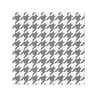 千鳥格子のなパターン壁のキャンバス-灰色の千鳥格子の キャンバスプリント