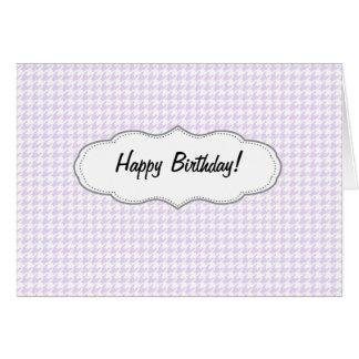 千鳥格子のなパターン-薄紫の紫色 カード