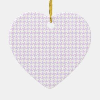 千鳥格子のなパターン-薄紫の紫色 セラミックオーナメント