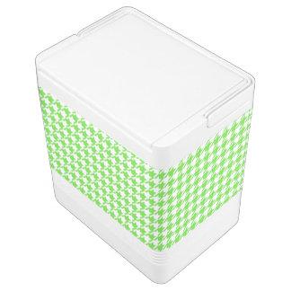 千鳥格子のなライムグリーン色の背景 IGLOOクーラーボックス