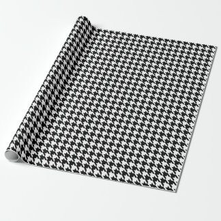 千鳥格子のな白黒包装紙 ラッピングペーパー