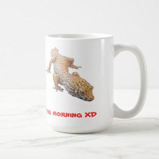 午前中ヒョウのヤモリ コーヒーマグカップ