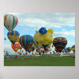 午前中気球アルバカーキ ポスター