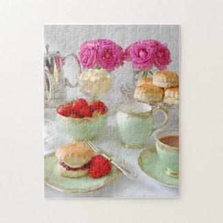 午後のお茶の写真のパズル ジグソーパズル
