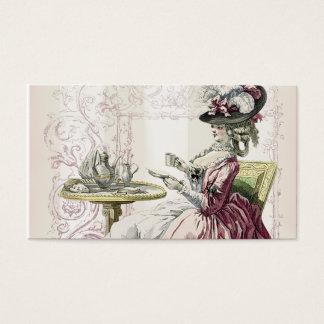 午後のお茶は、鳩の灰色のストライブ柄を青ざめさせます 名刺