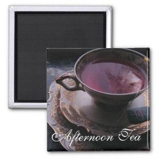 午後のお茶2インチの正方形の磁石 マグネット
