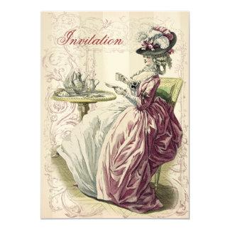 午後のお茶、アイボリーで、 カード
