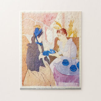 午後のパズルのメリーStevenson Cassatt茶 ジグソーパズル