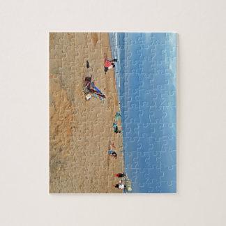 午後のビーチのおもしろい ジグソーパズル