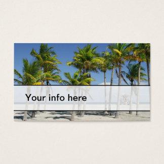 午後の名刺の美しく明るいビーチ 名刺