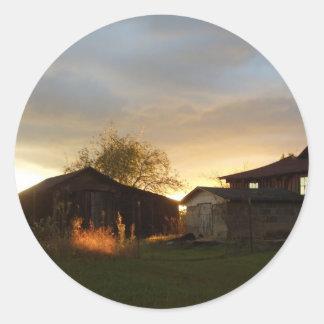 午後の日光の納屋 ラウンドシール