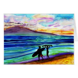 午後の波のレッスンLahaina カード