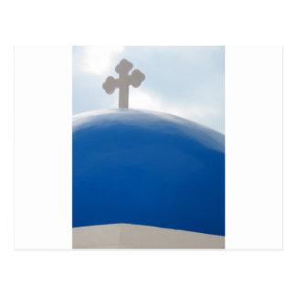 午後日曜日Santoriniの十字 ポストカード