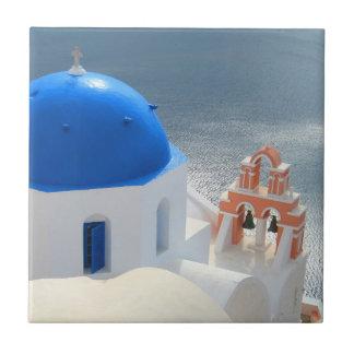 午後日曜日Santorini教会 タイル