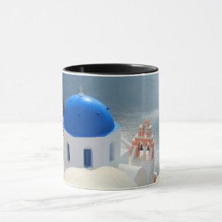 午後日曜日Santorini教会 マグカップ