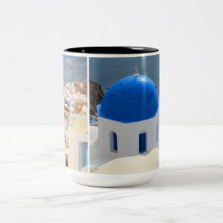 午後日曜日Santorini ツートーンマグカップ
