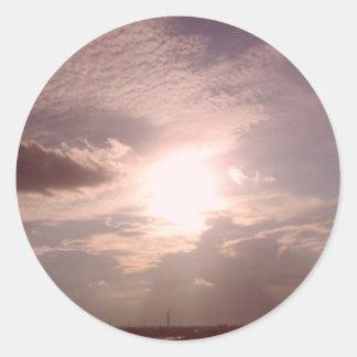 午後自然な空 ラウンドシール