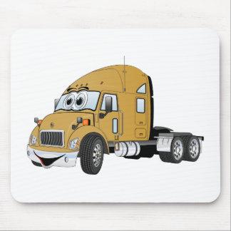 半トラックのタクシーの金ゴールド マウスパッド