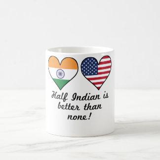 半分のインディアンはどれもよりよくないです コーヒーマグカップ