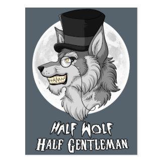 半分のオオカミの半分の紳士 ポストカード