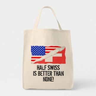 半分のスイス人はどれもよりよくないです トートバッグ