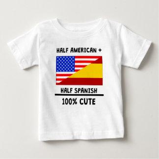 半分のスペイン語かわいい100% ベビーTシャツ