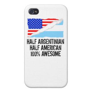 半分アルゼンチンの半分のアメリカの素晴らしい iPhone 4/4S COVER