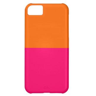 半分オレンジおよび明るいピンク iPhone5Cケース
