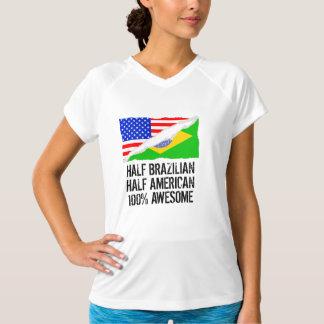 半分ブラジルの半分のアメリカの素晴らしい Tシャツ