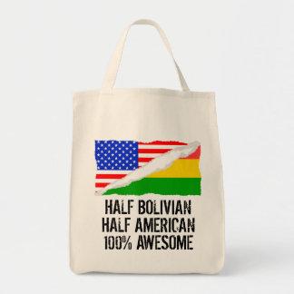 半分ボリビアの半分のアメリカの素晴らしい トートバッグ