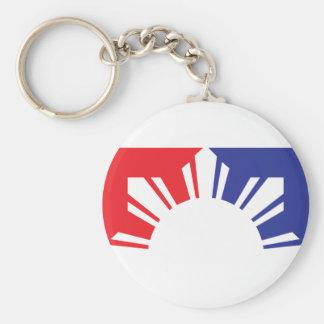 半分メジャーリーグのフィリピンの旗- キーホルダー