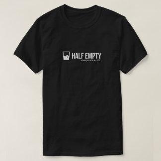 半分空っぽのワイシャツ(黒) Tシャツ