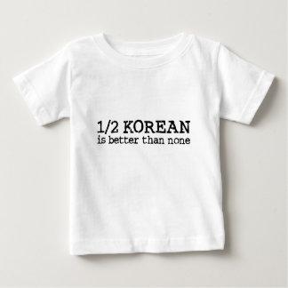 半分韓国語 ベビーTシャツ