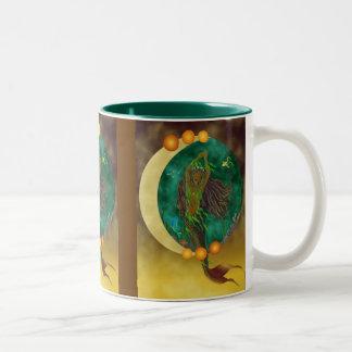半月の人魚のマグ ツートーンマグカップ