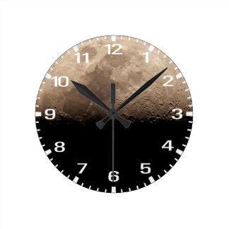 半月の時間 ラウンド壁時計