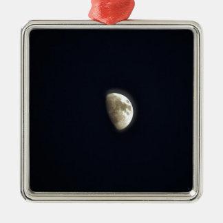 半月の月の天文学の写真 メタルオーナメント