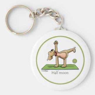 半月-ヨガのkeychain キーホルダー